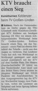 """[RZ: 25.10.14] """"KTV braucht einen Sieg"""""""