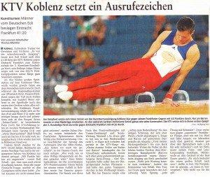 """[RZ: 29.09.14] """"KTV Koblenz setzt ein Ausrufezeichen"""""""