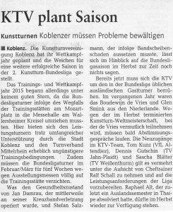 "[RZ: 04.02.15] ""KTV plant Saison"""
